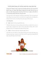 Chế độ dinh dưỡng cho bà bầu chuẩn theo từng tuần thai