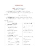Giáo án Tiếng Anh 7 unit 10: Health and hygiene