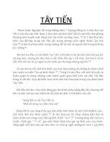 TÂY TIẾN  một trong những bài thơ hay của Quang Dũng