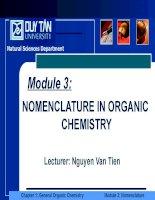 NOMENCLATURE IN ORGANIC CHEMISTRY