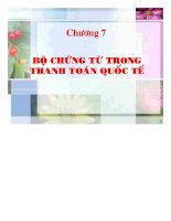 BỘ CHỨNG từ TRONG THANH TOÁN QUỐC tế