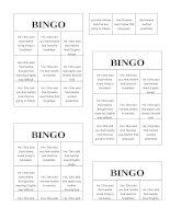 7181 reported speech bingo