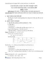 Chuyên đề bài toán liên quan đến cực trị và tiệm cận hàm số