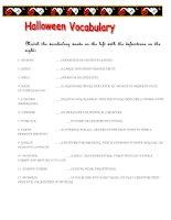 11462 halloween vocabulary