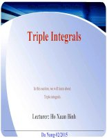 Triple Integrals  In this section, we will learn about: Triple integrals.