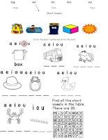 22520 short vowels a e i o u