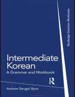 Intermediate korean a grammar and workbook