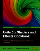 Unity 5 x shaders and effects cookbook, second edition