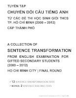 sentence transformation thcs1