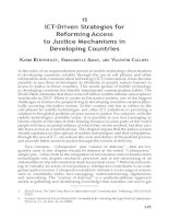 ICTDriven Strategies for Reforming Access to Justice Mechanisms in Developing Countries