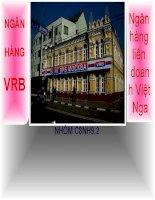 Ngân hàng liên doanh việt nga VRB