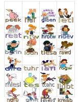 4533 irregular verbs memory game