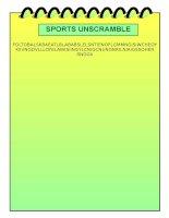 21801 sports unscramble