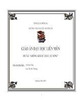giáo án tích hợp liên môn hóa 8- bài KHÔNG KHÍ-SỰ CHÁY, SỰ SỐNG
