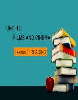 Bài giảng môn tiếng anh lớp 10 UNIT 13:  FILMS AND CINEMA
