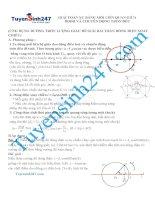 Ứng dụng đường tròn lượng giác để giải bài toán DÒNG ĐIỆN XOAY CHIỀU