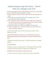 12889 food idioms sample dialogue