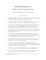make your own teaching material complete pack