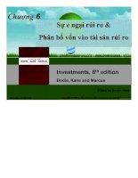 BÀI GIẢNG sự e NGẠI rủi RO và PHÂN bổ vốn vào tài sản rủi RO