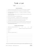 talk a lot discussion words question sheet template