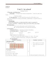 Giáo án Tiếng Anh 6 unit 2: At school