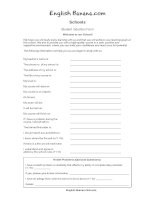 student induction form