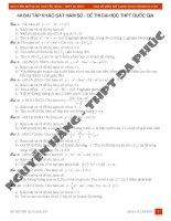 44 bài tập khảo sát hàm số đề thi đại học THPT quốc gia