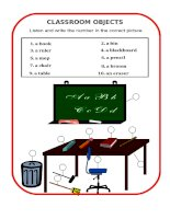 11368 classroom objects
