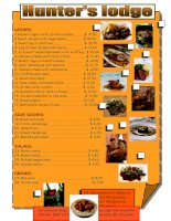 268 restaurant menu
