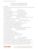 Bài tập trắc nghiệm dao động điều hòa và con lắc lò xo (có đáp án)