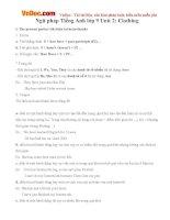 Ngữ pháp Tiếng Anh lớp 9 Unit 2: Clothing