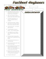 10909 funsheet for beginners seasons