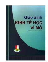GIÁO TRÌNH KINH tế học vĩ mô (PHẦN 1)   PSG TS  vũ KIM DŨNG