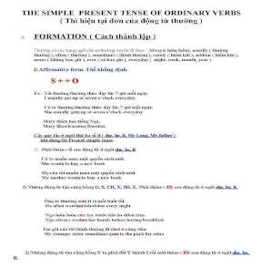 The Simple Present Tense Of Ordinary Verbs