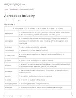 ENGLISH PAGE   aerospace industry