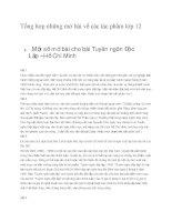 Tổng hợp những mở bài về các tác phẩm lớp 12