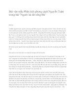 """Phân tích phong cách Nguyễn Tuân trong bài Người lái đò sông Đà"""""""