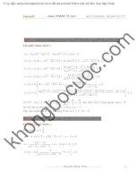 Chuyên đề bất phương trình vô tỷ hay