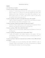Speaking test english
