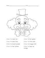 47462 colour the clown