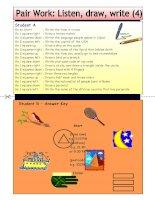 4770 pair work listen draw write 4