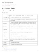 ENGLISH PAGE   changing jobs