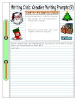 5690 writing clinic creative writing prompts 9  letter to santa claus