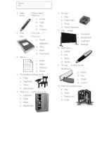 27255 things in the classroom worksheet