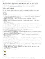Describing graphs   free english grammar, vocabulary and phrase tests