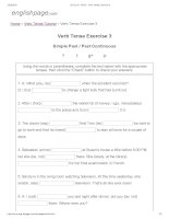 ENGLISH PAGE   verb tense exercise 3