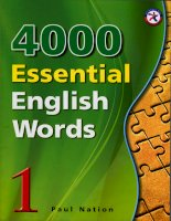4000 từ VỰNG TIẾNG ANH   QUYỂN 1