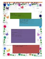All about me   5 or 6