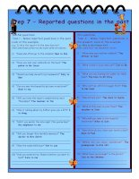 5814 reported speech step by step  step 7  reported questions in the past  key included