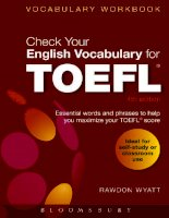 Sách luyện thi toefl_Check your english vocabulary for TOEFL 4th ed